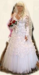 шикарное Свадебное платье р-р44-48