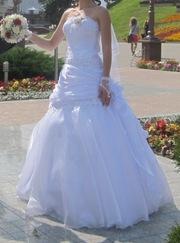продам свадебное платье 44-46/от 168 см б/у 1 день ОЧЕНЬ КРАСИВОЕ