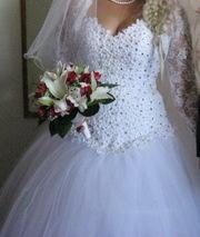 Шикарное свадебное платье для золушки