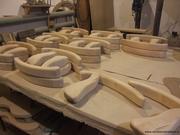 Подлокотники деревянные для офисных кресел