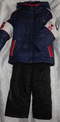 Зимний комплект для мальчика (куртка,  полукомбинезон),  рост 104 см