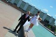 Удобное свадебное платье. Уникальная модель,  второй такой нет. Фата в