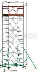 Аренда вышки-туры Радиан 12м 2м.*0, 8м.,  Вектор 10м площадка 1.2м*2м