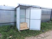 Туалетная кабина для дачи из поликарбоната