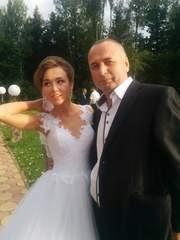 легкое,  пышное свадебное платье на Дюймовочку
