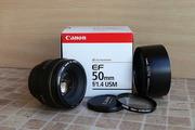 Продам объектив Canon EF 50mm f/1.4 USM в отличном состоянии!
